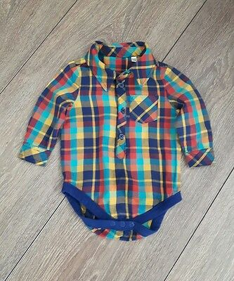 Baby Boys Bhs Checked  Shirt Age 3-6 Months