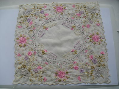Beautiful Vintage Embroidered Hankerchief