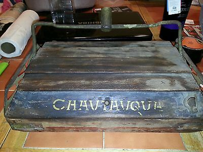 Antique Chauvthvqua floor sweeper