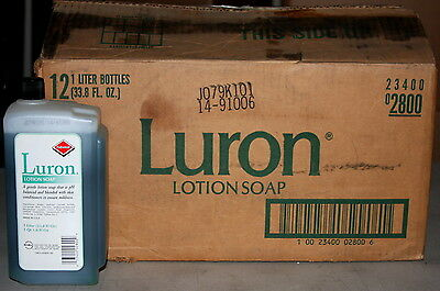 Case of 12 Dial Luron 33.8 fl oz Emerald Lotion Soap Bottles Refills DIA 84050