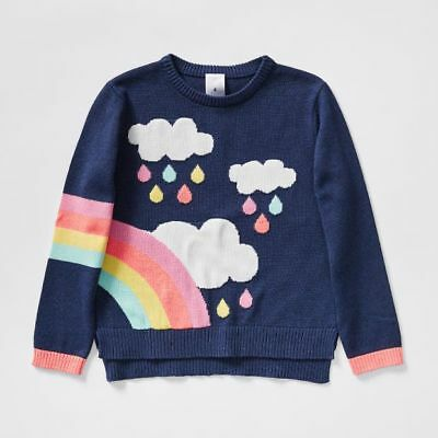 NEW Rainbow Cloud Knit Jumper Kids