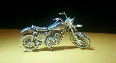 Sterling Silver Articulated Motorcycle Vintage Figurine