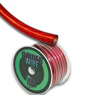 IMC Audio 2 Gauge Red Power Wire Cable Roll 6.1m. Huge Saving
