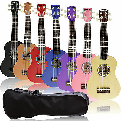 Beginners Ukulele Ukelele Soprano Instrument Hawaii Solid Uke Guitar Free Bag