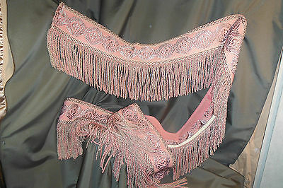 1870 Antique Cornice Fringe Runner Tapestry from Silverbell Brothel in Telluride
