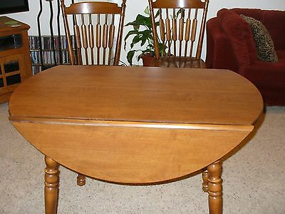Tell City Hard Rock Drop Leaf Maple Dining Table Andover finish #48
