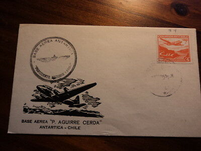 Chile fdc first day cover 1959 Antarctic air base