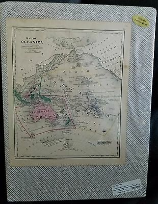 Map of Oceanica 10 x 12 c1853 Color Unframed Photograph