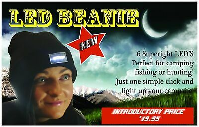 5 LED Beanie Black New Hunting Fishing Accessories Camping Scouts Hiking