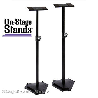 Onstage Hex-Base *new* Monitor Stands (Pair) Heavy Duty Professional- Sms6600P