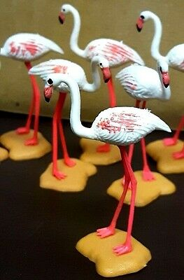 █▓▒ BRITAINS FLAMINGO ZOO PLASTIC NOT LEAD FIGURE MADE IN ENGLAND buy 1 or more