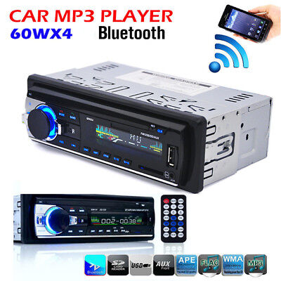 Car Bluetooth In-dash Radio Stereo Audio 1 DIN Unit Player MP3/USB/SD/AUX-IN/FM