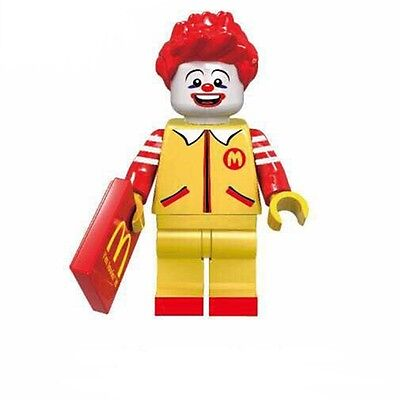 Ronald McDonald Minifigure US SHIPPER Custom toy movie Fastfood restaurant clown