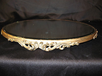 "Wonderful Antique Ornate Plateau 14"" Vanity Tray"