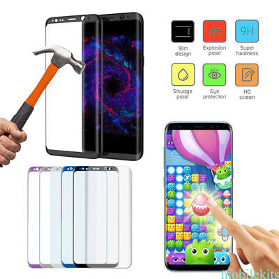 Fr Samsung GalaxyS7 Edge/ S8+ Tempered Glass Film Screen Protector Full Curved