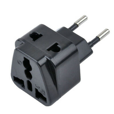 1 to2 Splitter UK/US/EU/AU Outlet to EU/Brazil/Israel Wall Plug Adapter Charger