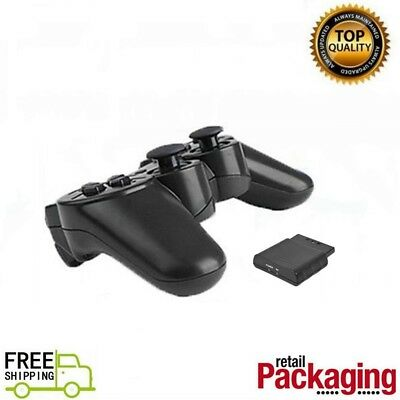 New Wireless Game Controller 2.4GHz Gamepad For PS2 Dark Black Free Shipping