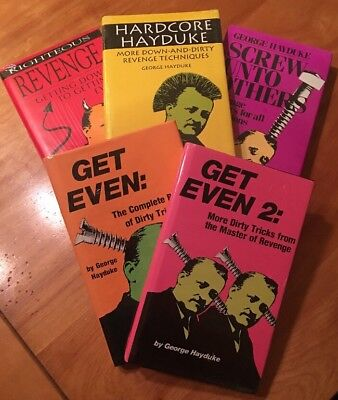 Lot of 5 New George Hayduke Hardcover Books Revenge Dirty Tricks Get Even
