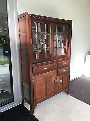 Original Leadlight Kitchen Dresser circa 1920s