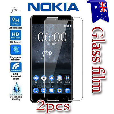 2X Nokia 3 3.2 4.2 5 6 6.1 7 Plus 8 Tempered Glass Screen Protector Film Guard