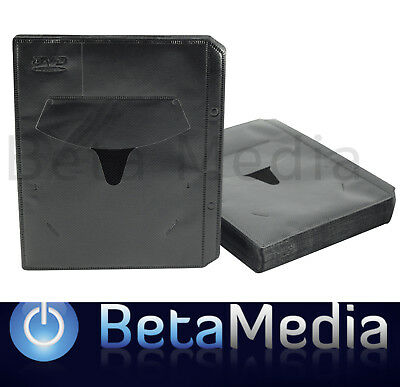 100 x Black DVD Sleeves - holds discs and Movie or Game paper cover