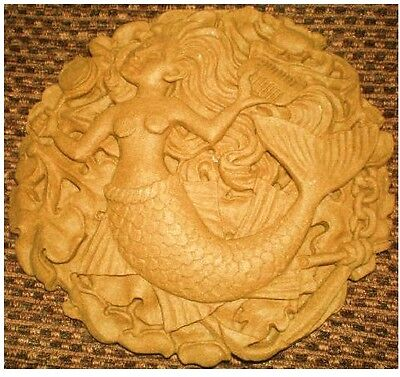 Latex Mould To Make Mermaid Plaque Reusable Art & Crafts Hobby Garden Patio