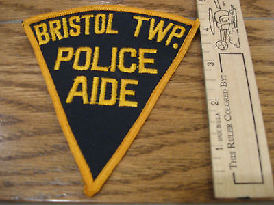 old Bristol Twp Pennsylvania Police Aide patch vintage PA