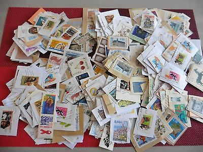 GROS LOT DE 450 TIMBRES COLLECTION OBLITERES FRANCE et AUTRES....