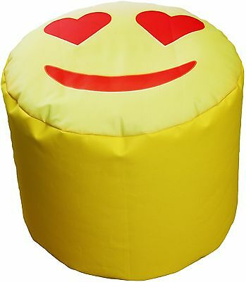 Pouf Bean Bag Tondo Per Interno Emoj Emoticons Amore