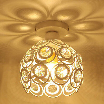 Delicate Crystal Floral Design Chandelier Shade Pendant Light Shade_White