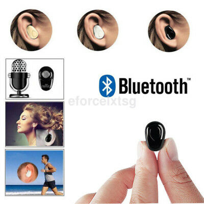 Invisible Bluetooth Wireless Stereo Sport Headset Headphone For Mobile Phone US