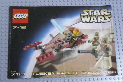 LEGO INSTRUCTIONS MANUAL BOOK ONLY 7113 Tusken Raider Encounter x1PC