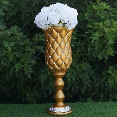 "6 pcs GOLD 24"" tall Decorative Wedding Party Vases Centerpieces Decorations"
