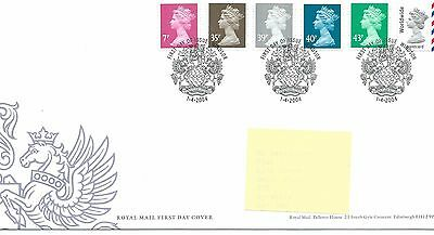 wbc. - GB - FIRST DAY COVER - FDC - DEFINITIVES -2004 - 6 val to w/w - Pmk W