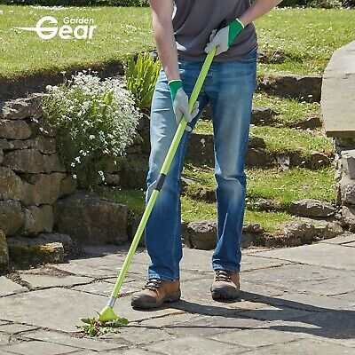 Garden Gear Weed Brush & Scraper Telescopic Patio Block Paving Multi Rake Tool