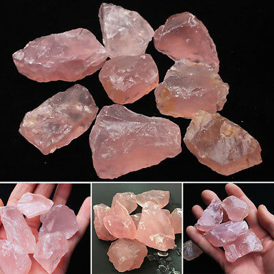 1Pc Natural Pink Quartz Crystal Stone Rock Mineral Specimen Healing Collectible