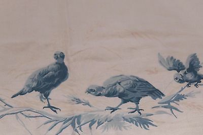 SUPERB COUNTRY HOUSE LINEN TABLE CLOTH  217 x 233 cms EMBROIDERED with BIRDS