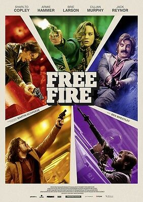 POSTER Free Fire (UK, 2017) BRIE LARSON CILLIAN MURPHY - US2507AG7