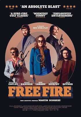POSTER Free Fire (UK, 2017) BRIE LARSON ARMIE HAMMER - US2507AG8