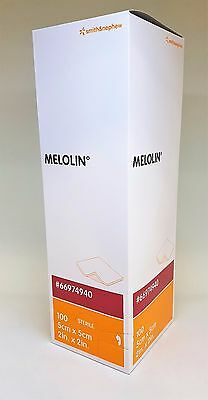 Melolin Dressing - 5cm x 5cm x 1 UK SELLER WOUND CARE FIRST AID NON ADHESIVE