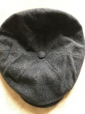9555de243c1639 Stetson Flat Cap Size 59 Hand Crafted In U.S.A Wool And Cashmere. Charcoal.