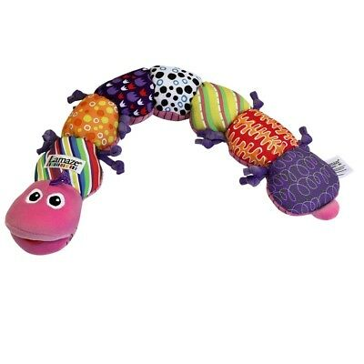 Lamaze Pink Musical Inchworm, Newborn Baby Learning Cot / Crib Toy