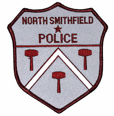 NORTH SMITHFIELD RHODE ISLAND RI Police Sheriff Patch OLD MESH ~
