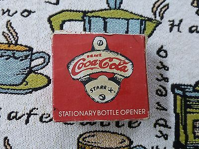 "Vintage Starr ""X"" Coca-Cola  bottle opener with original box Brown MFG CO. NEW"