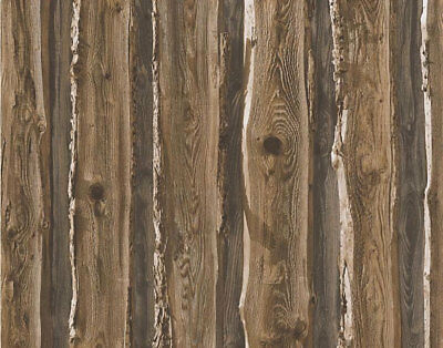 Brown Beige Wood Wallpaper Realistic Wooden Effect Grain Panel Natural Feature