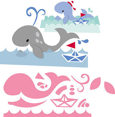 Marianne Design Collectable Die Cut Emboss Stencil Elines Whale Sealife  Col1430