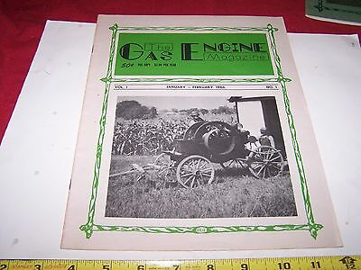 Old GAS ENGINE MAGAZINE #1 First Issue Hit Miss Steam Tractor Magneto Oiler NICE