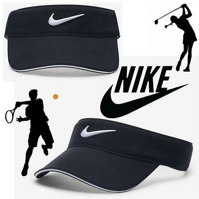 new NIKE SWOOSH TENNIS GOLF RUNNING VISOR CAP HAT SUN SHADE TICK CAP