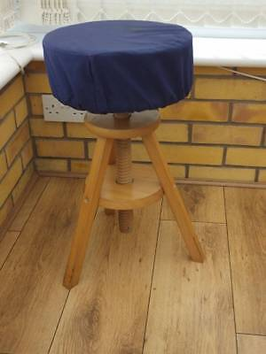 Solid Pine Adjustable Piano / Keyboard Stool. Large Sponge As Cushion.