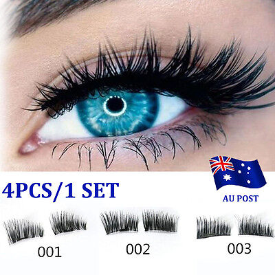 1 Pair Magnetic Eyelashes 3D Handmade Mink Reusable False Magnet Eye Lashes BBO